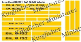 Royal Air Force Airfield Vehicle Markings